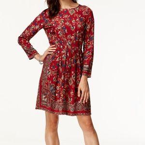 Lucky brand boho long sleeve dress sz XS